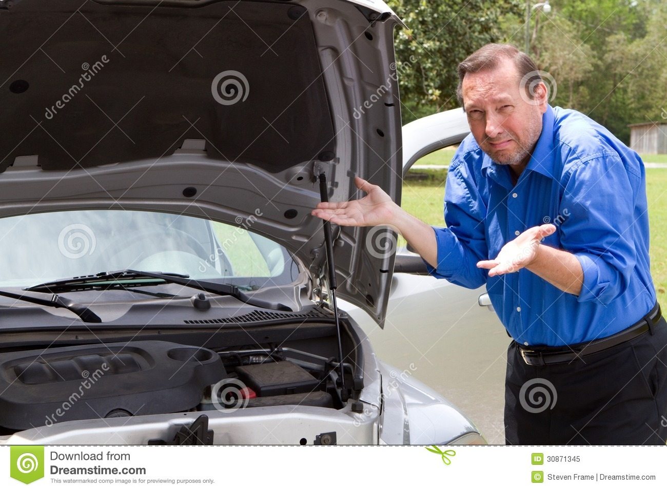Repair Broken Car Stock Image Image Of Broken Automobiles 30871345