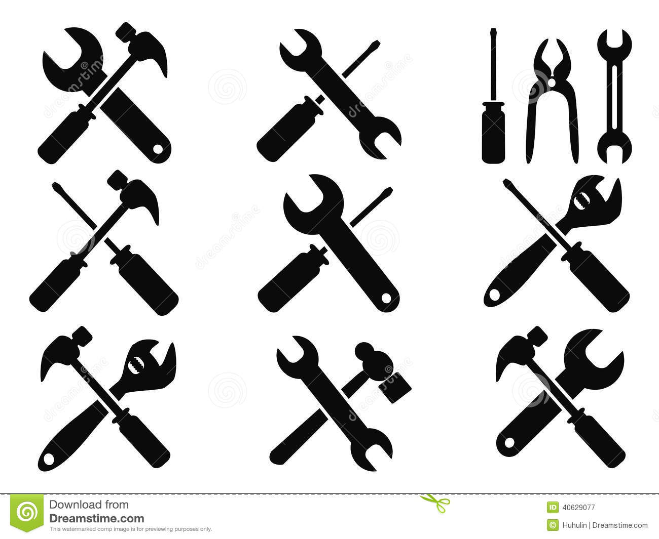 Repair Tool Icons Set Stock Vector Illustration Of Peen