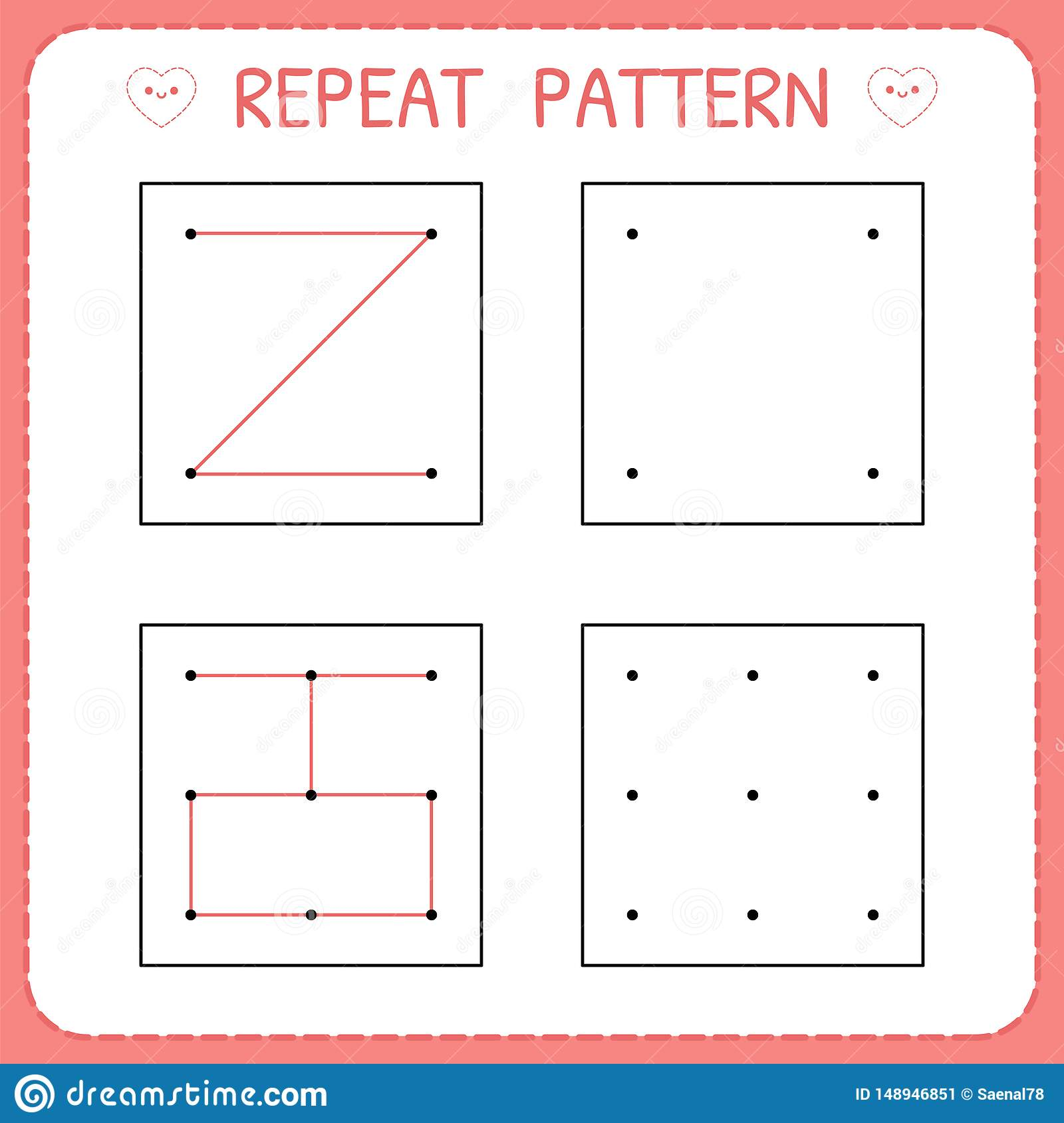 Repeat Pattern Working Pages For Kids Educational Games