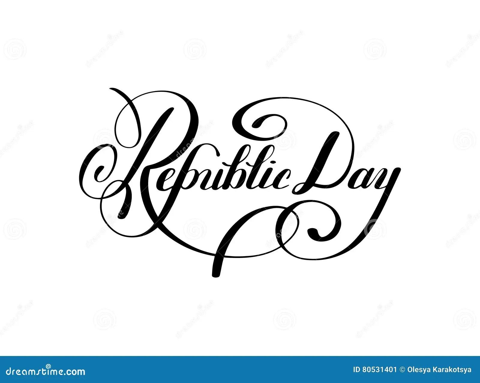 India Republic Day Greeting Card Design Vector