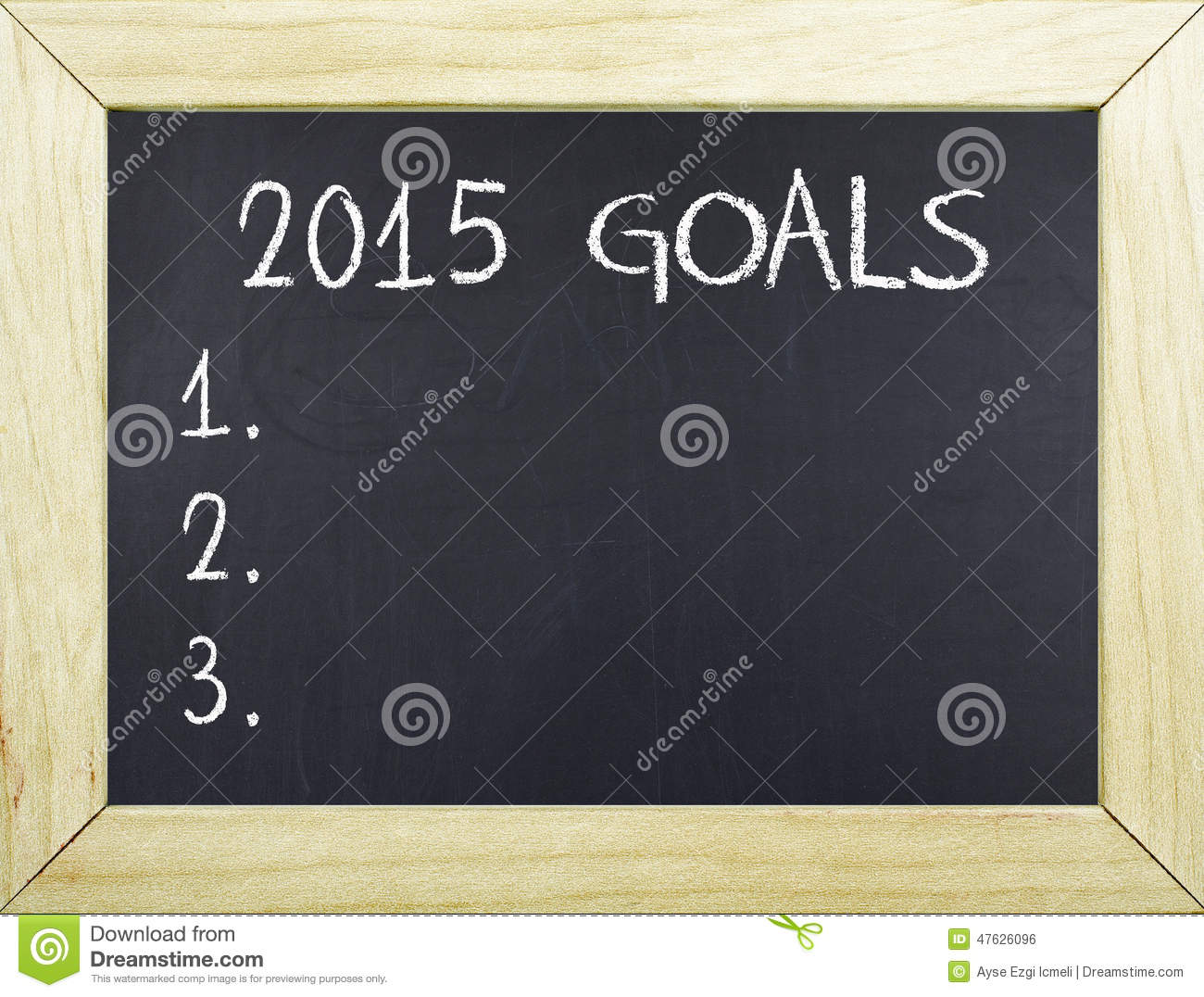 Resolutions Goals For New Year Stock Photo