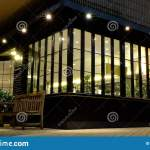 Restaurant Front Store With Lighting Equip Stock Photo Image Of Business Digital 180161462
