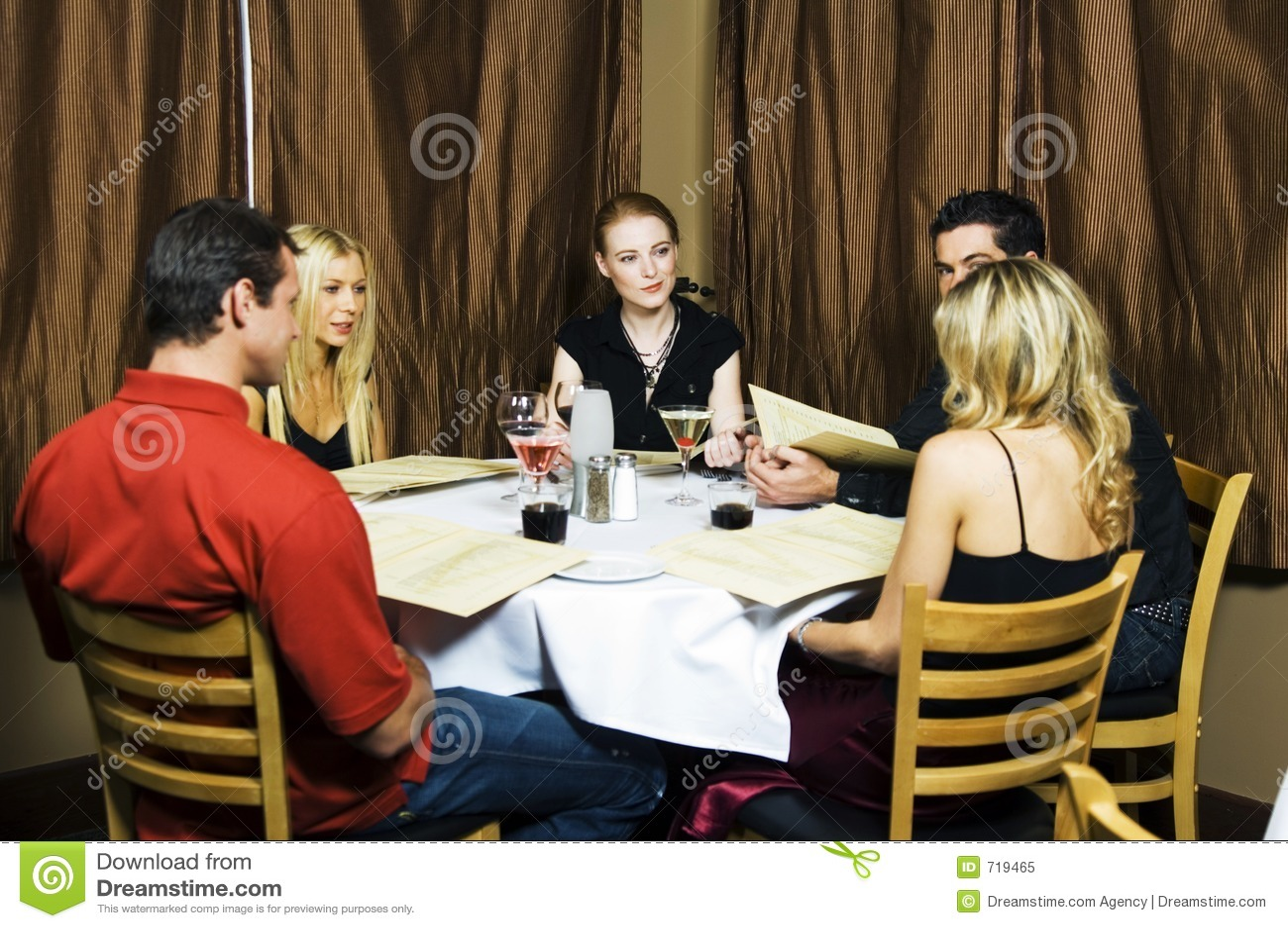 Restaurant Scene Stock Image Image Of Beautiful Hour