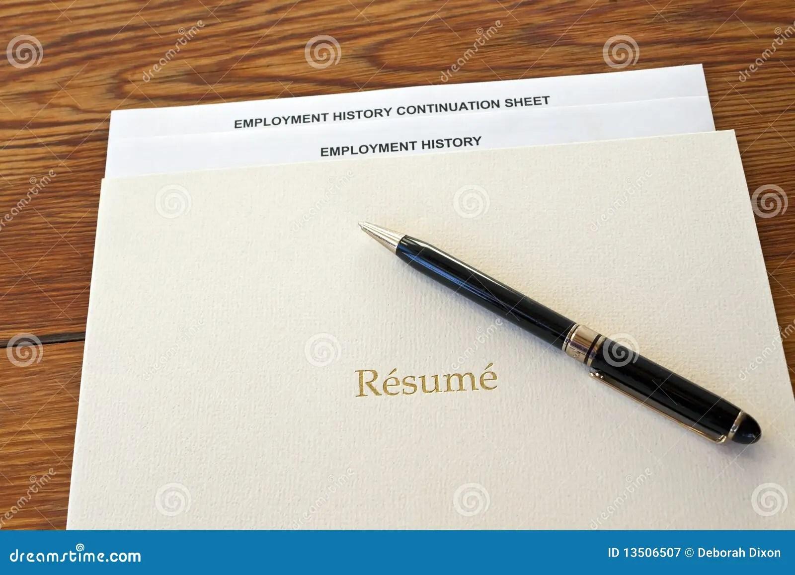Resume Folder For Interview