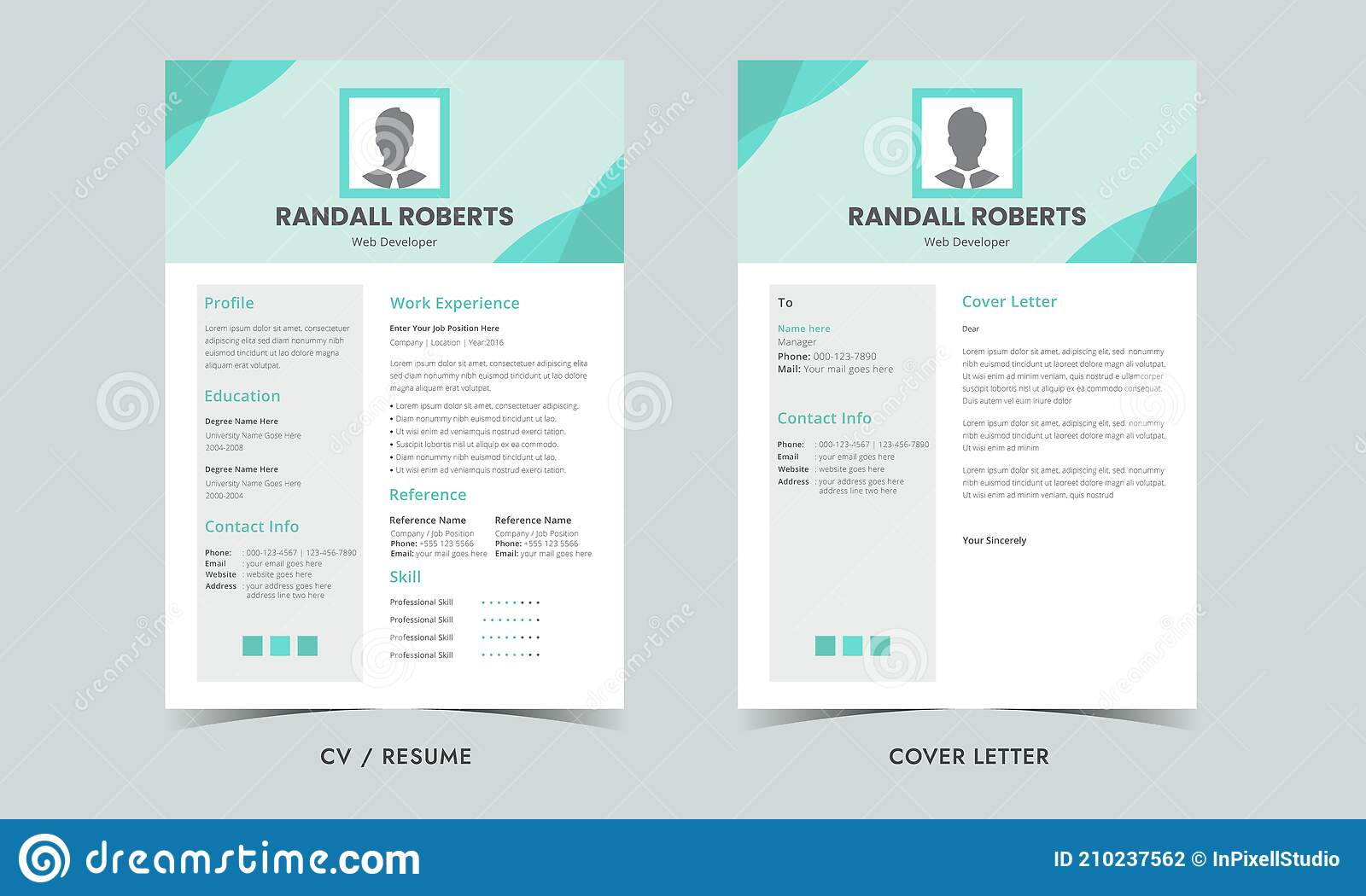 This modern resume template is an exquisite, simple project which would be an excellent fit for more formal job applications e.g. Resume Template Cv Professional Resume And Cover Letter Minimalist Resume Cv Template Stock Vector Illustration Of Jobs Simplicity 210237562