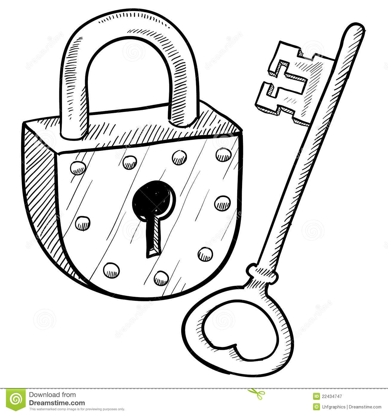 Retro Lock And Key Stock Vector Image Of Safe Legal