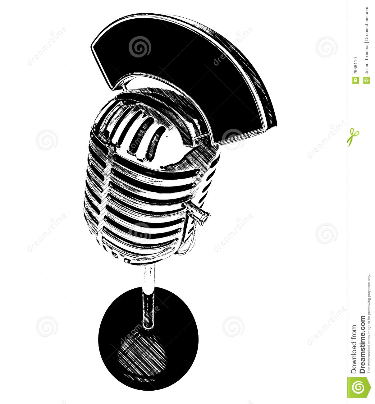 Retro Microphone 50s Royalty Free Stock Photography
