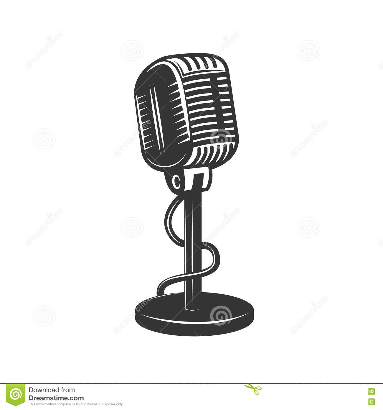 Microphone Icon Cartoon Vector