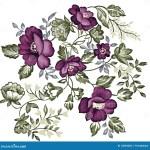 Retro Purple Flower Stock Illustration Illustration Of Gardens 12834260