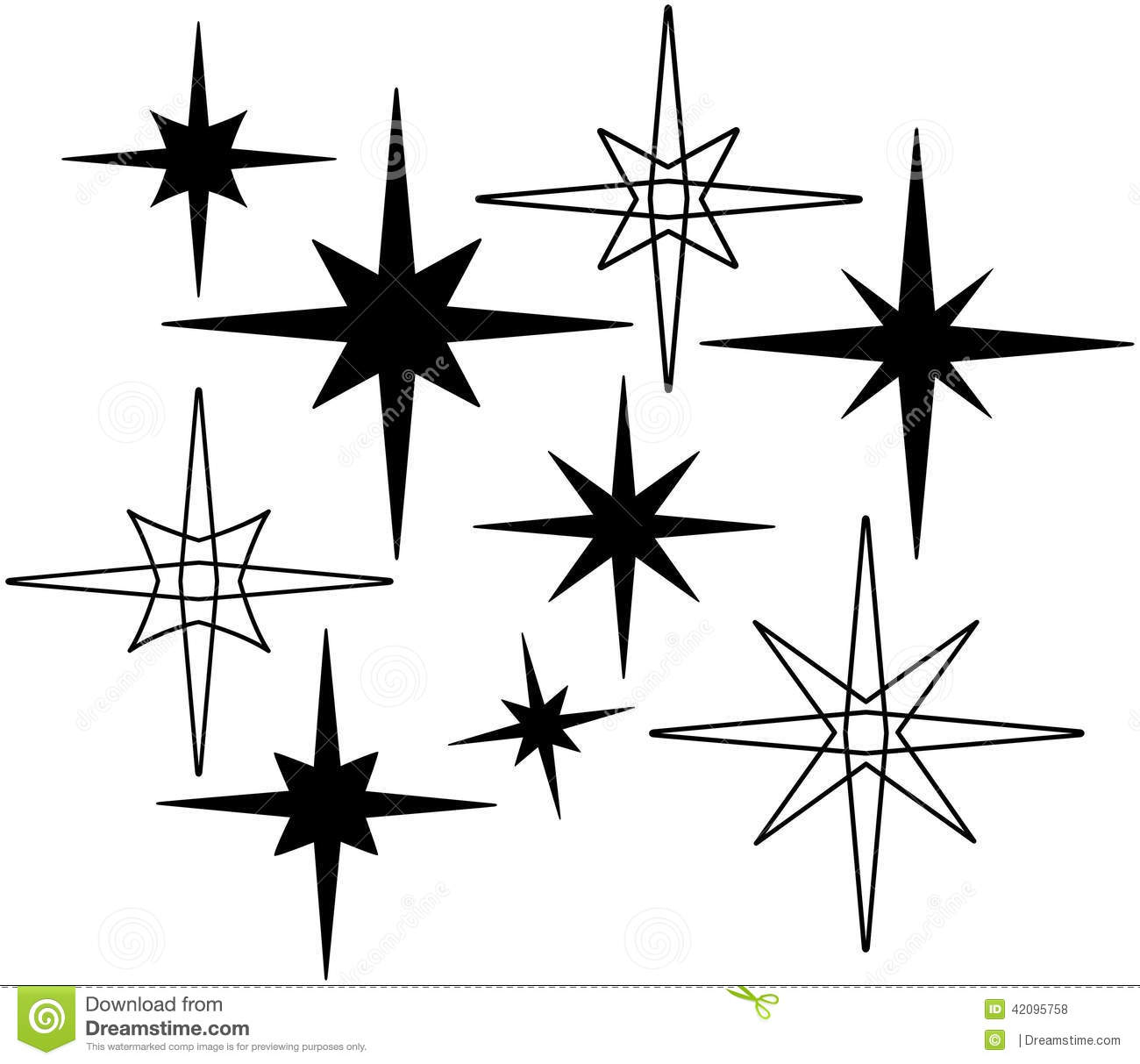 Retro Stars 7 Stock Vector