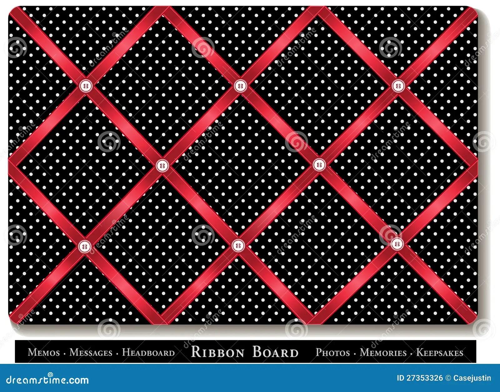 Ribbon Bulletin Board Stock Vector Image Of Cross