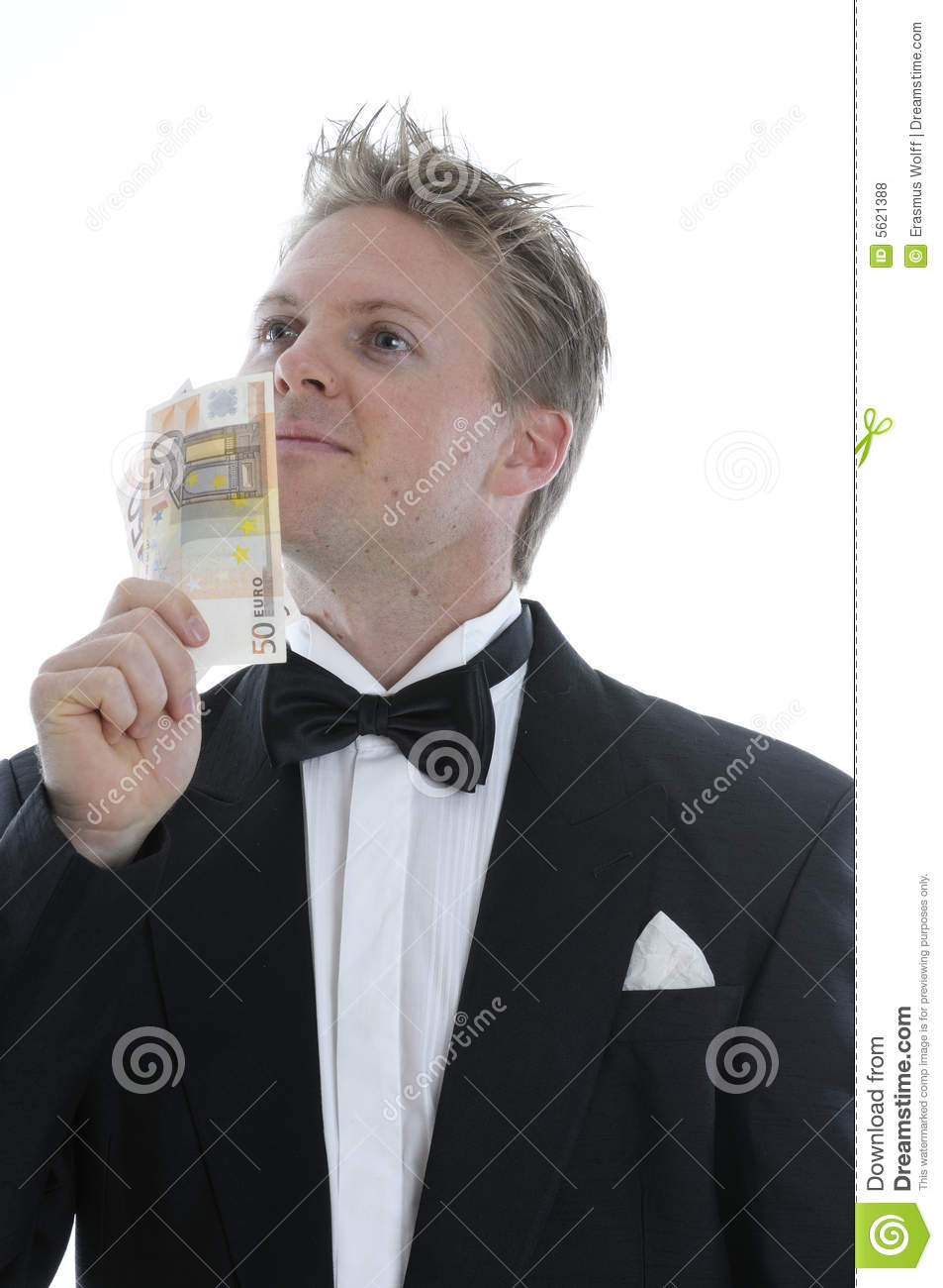 Rich Man In Dinner Jacket Stock Photo Image Of Affluent