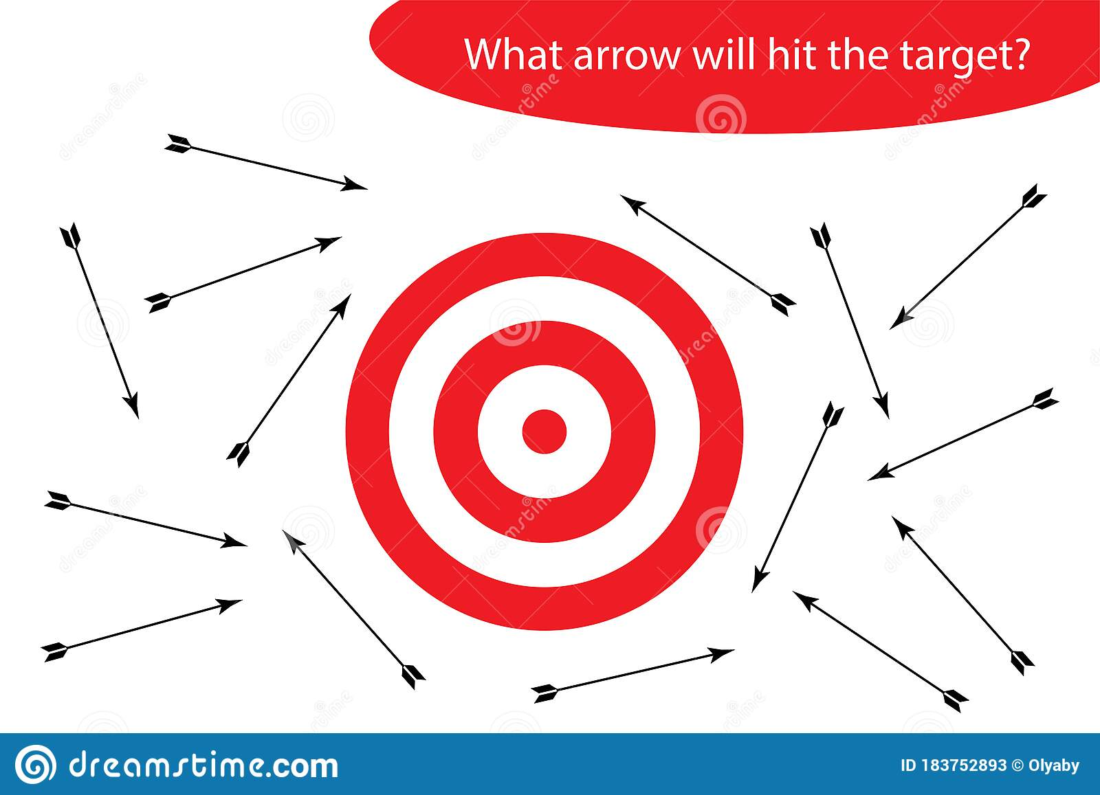 Riddle For Children Which Arrow Will Hit The Target