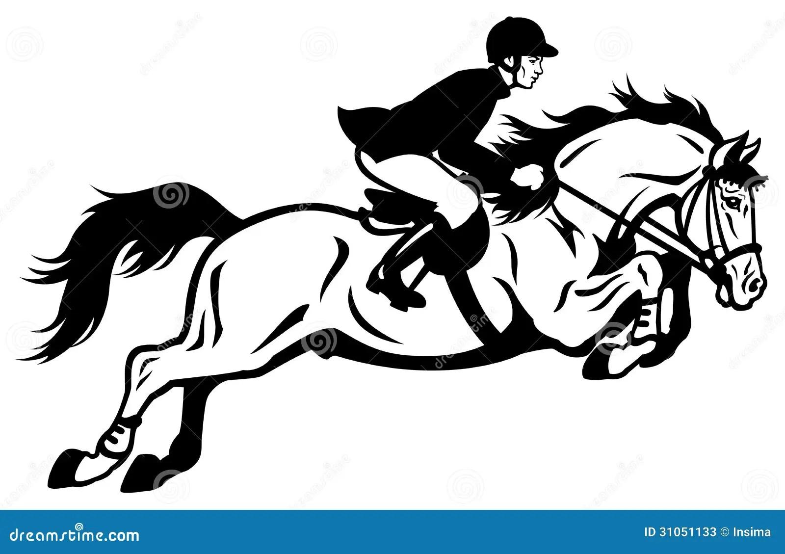 Rider Show Jumping Stock Photos