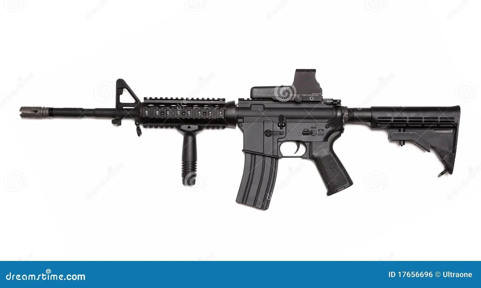 Rifle Del Ejercito Del Ee Uu M4a1 Con Vista Olografica