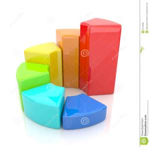 Ring Chart Business Diagram 3D Icon On White Stock