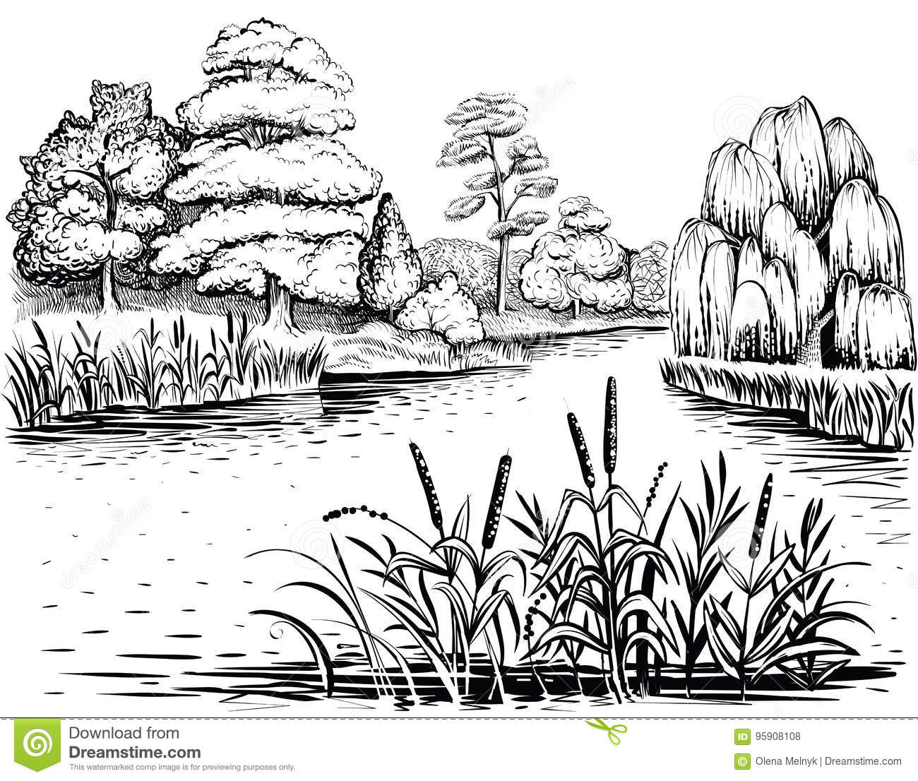 River Water Stock Illustrations 47 286 River Water Stock