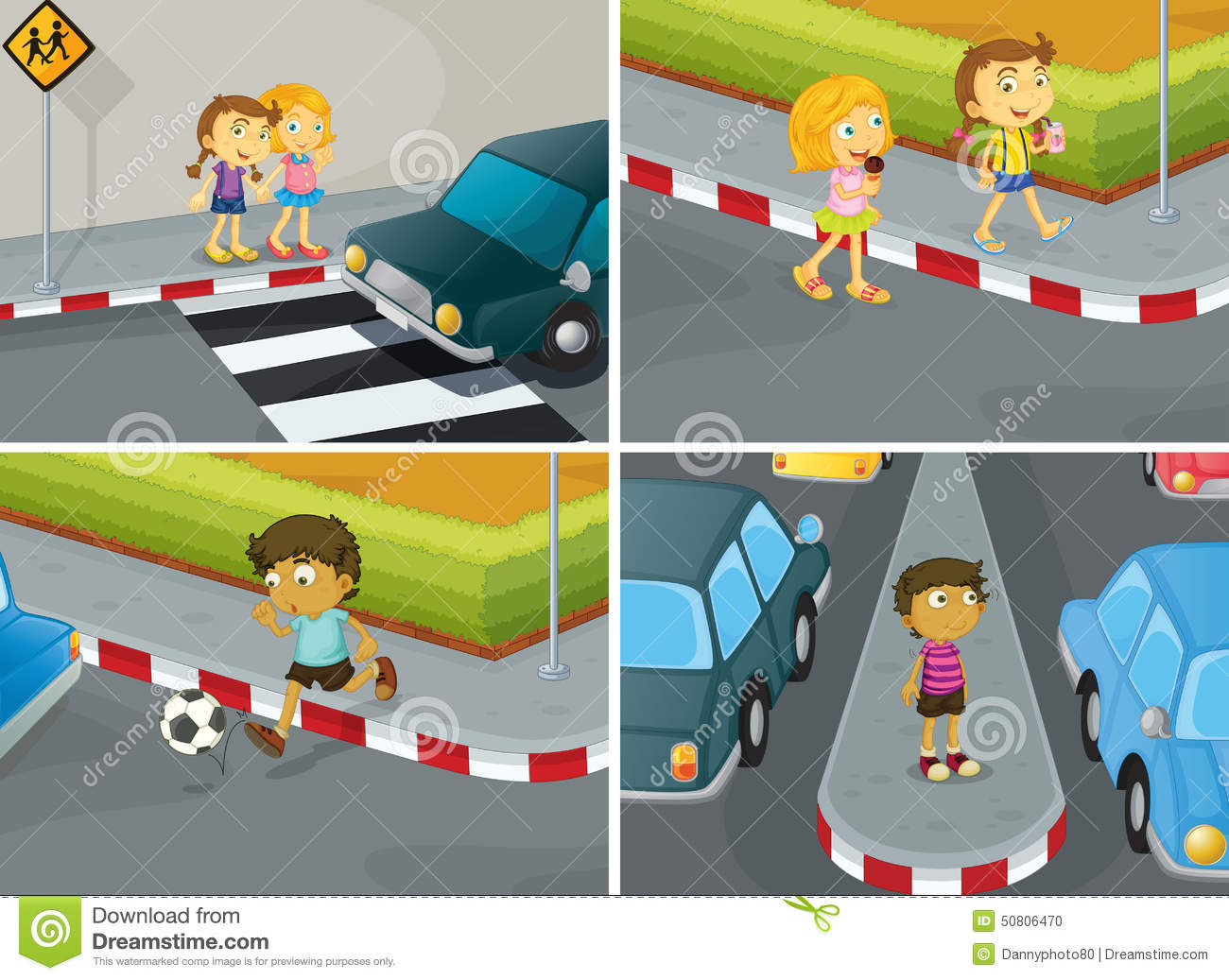 Road Safety Stock Vector