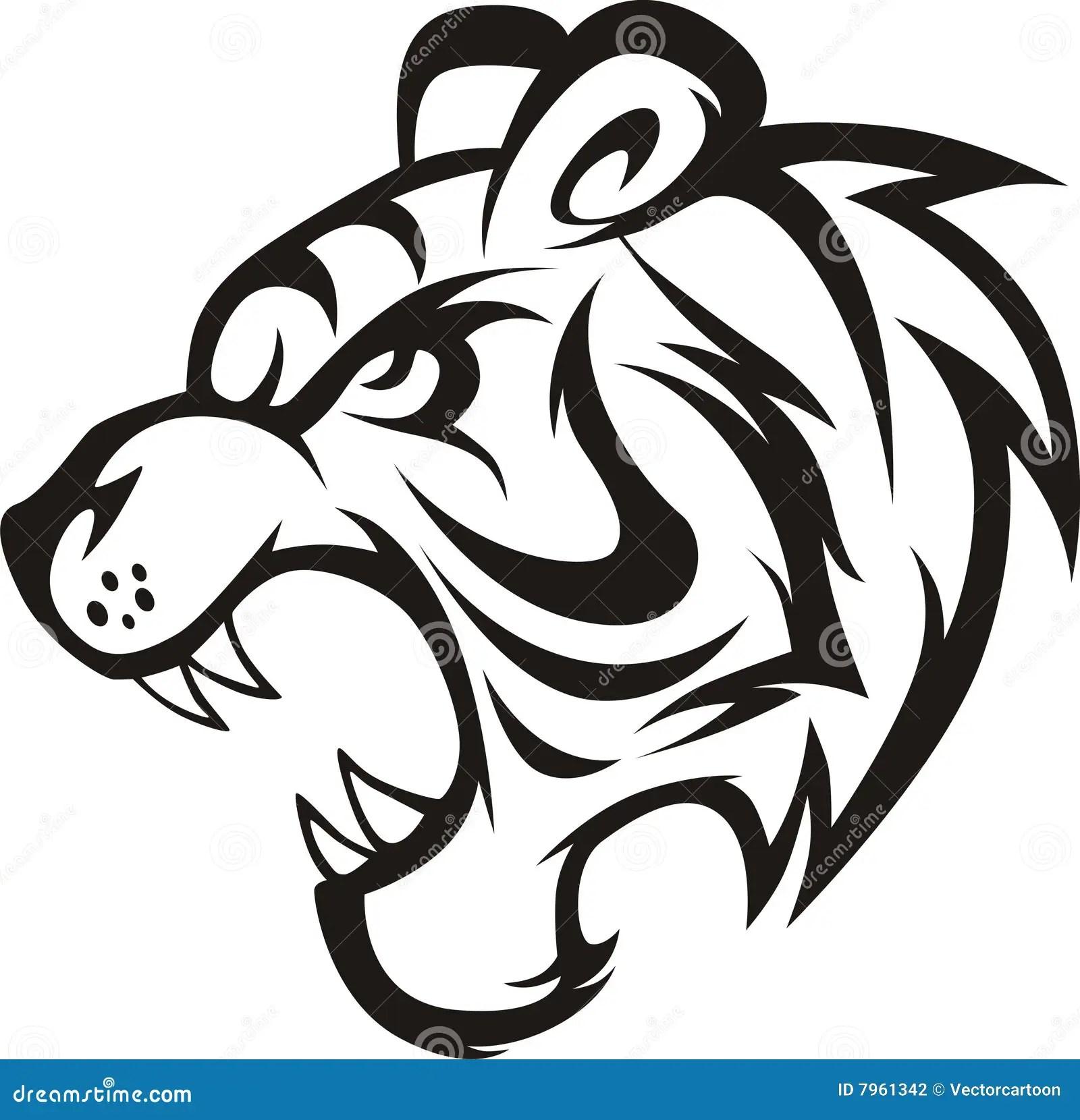 Roaring Tiger Stock Illustration Illustration Of Wildlife