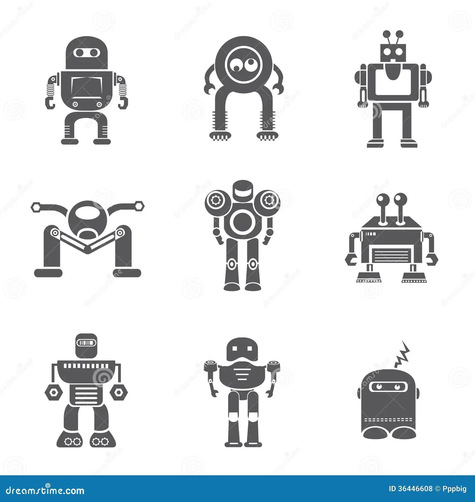 Robot Icons Royalty Free Stock Photos