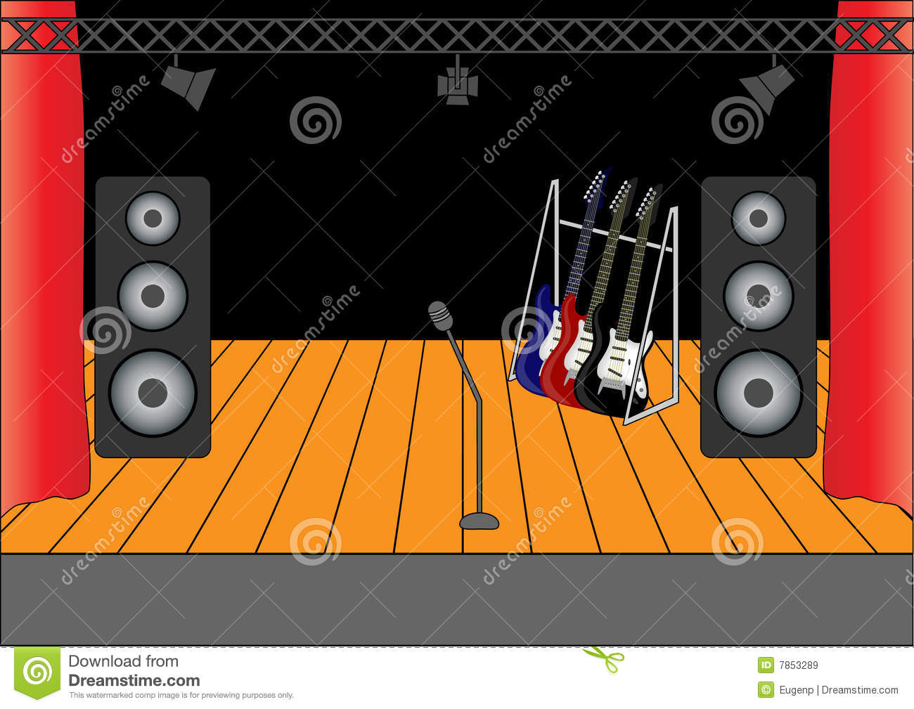 Rock Stage Royalty Free Stock Images Image 7853289