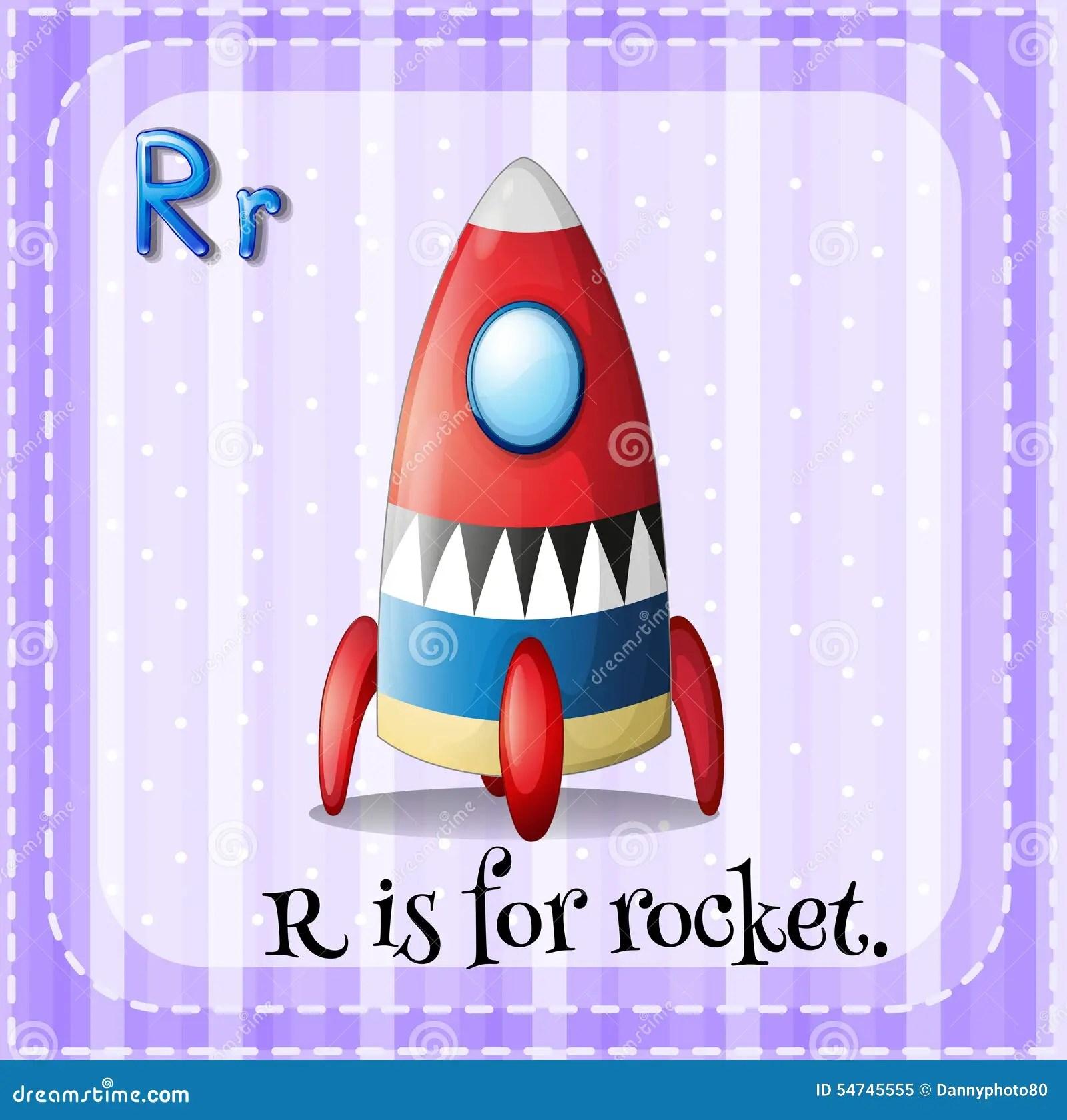 Rocket Stock Vector Illustration Of Phonic Font