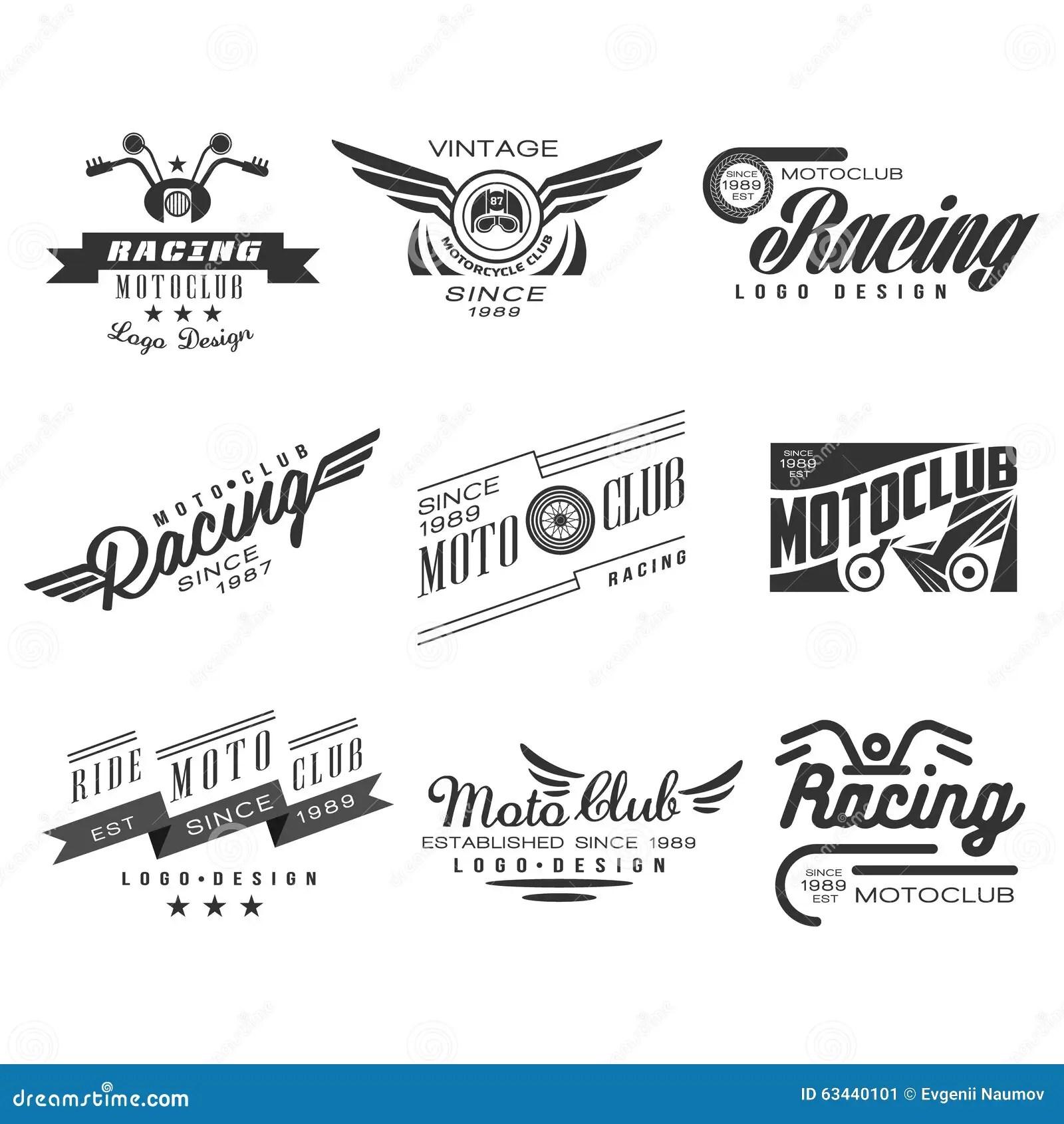 Rocznika Motocyklu Etykietki Odznaki Tekst I Projekt