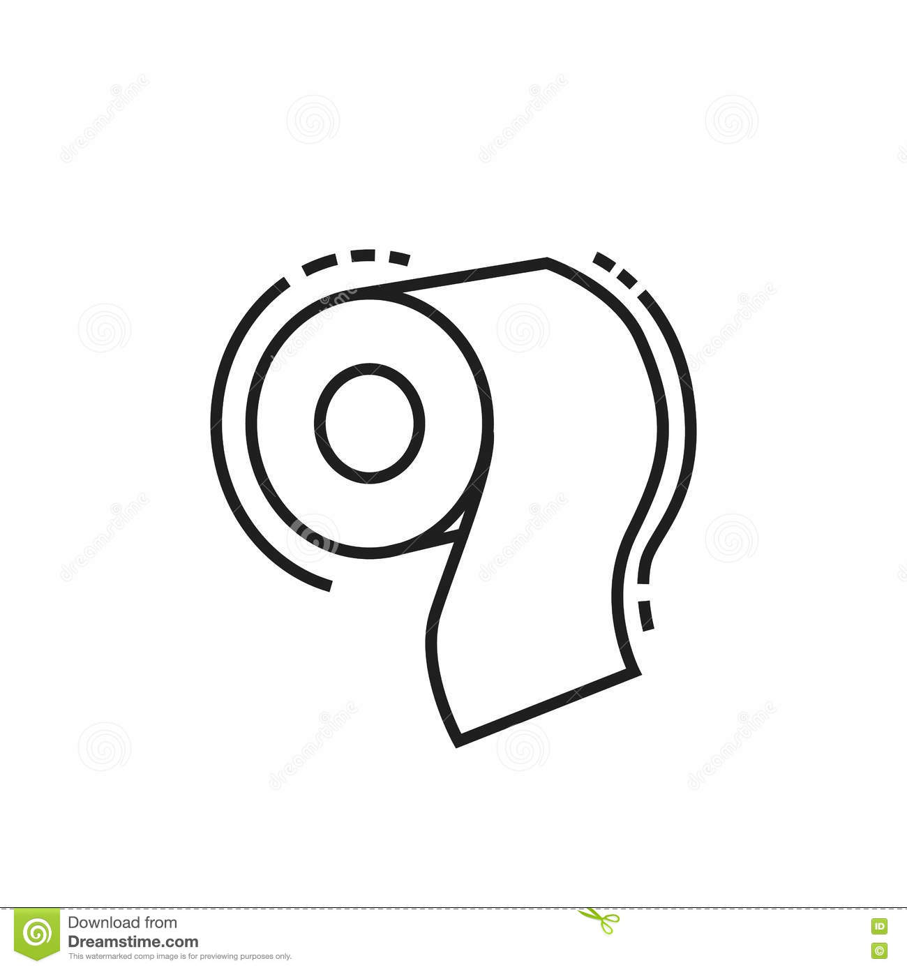 Toilet Paper Icon Stock Illustration