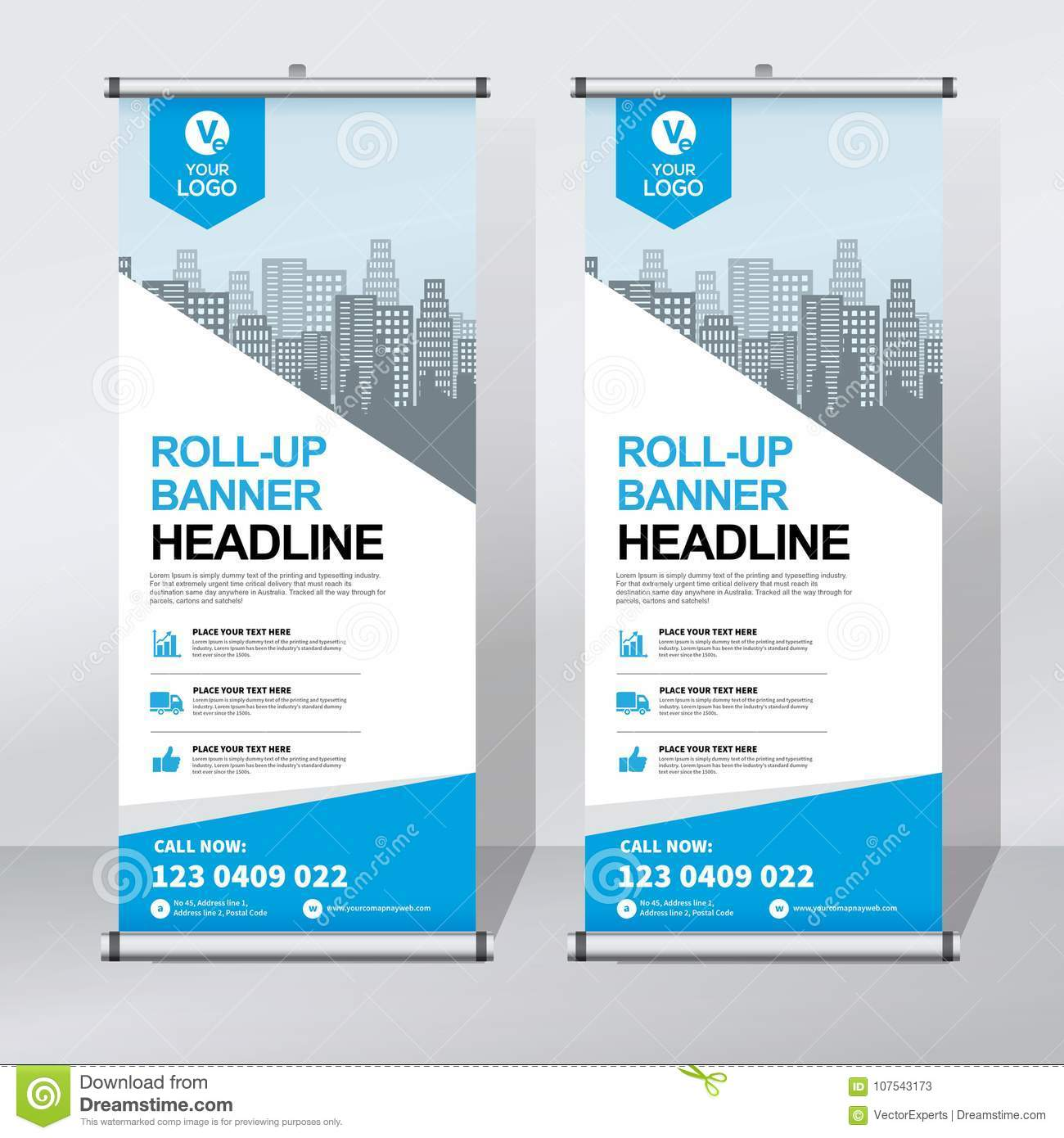 This is a professional roll up banner template for illustrator from www.themzy.com. Roll Up Banner Design Template Vertical Abstract Background Pull Up Design Modern X Banner Rectangle Size Stock Vector Illustration Of Promotion Brochure 107543173