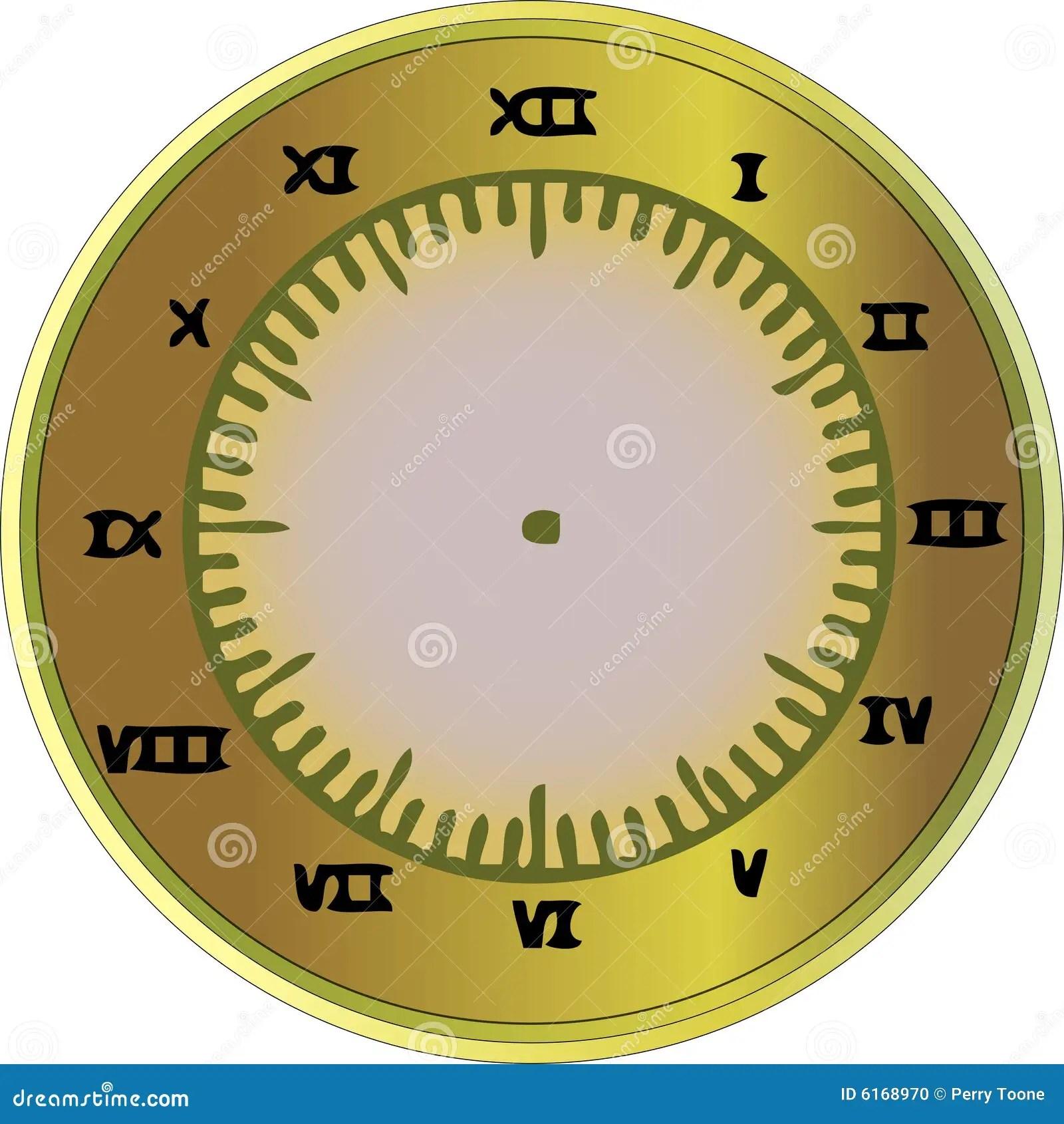 Roman Numeral Clock Stock Vector Illustration Of Design
