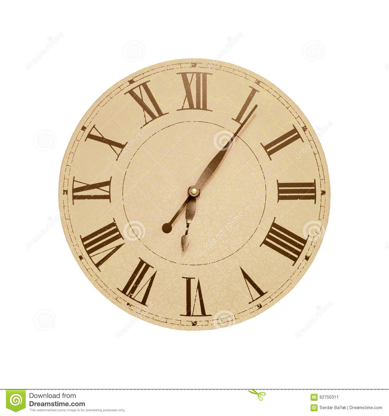 Roman Numeral Clock Stock Image Image Of Minute Office