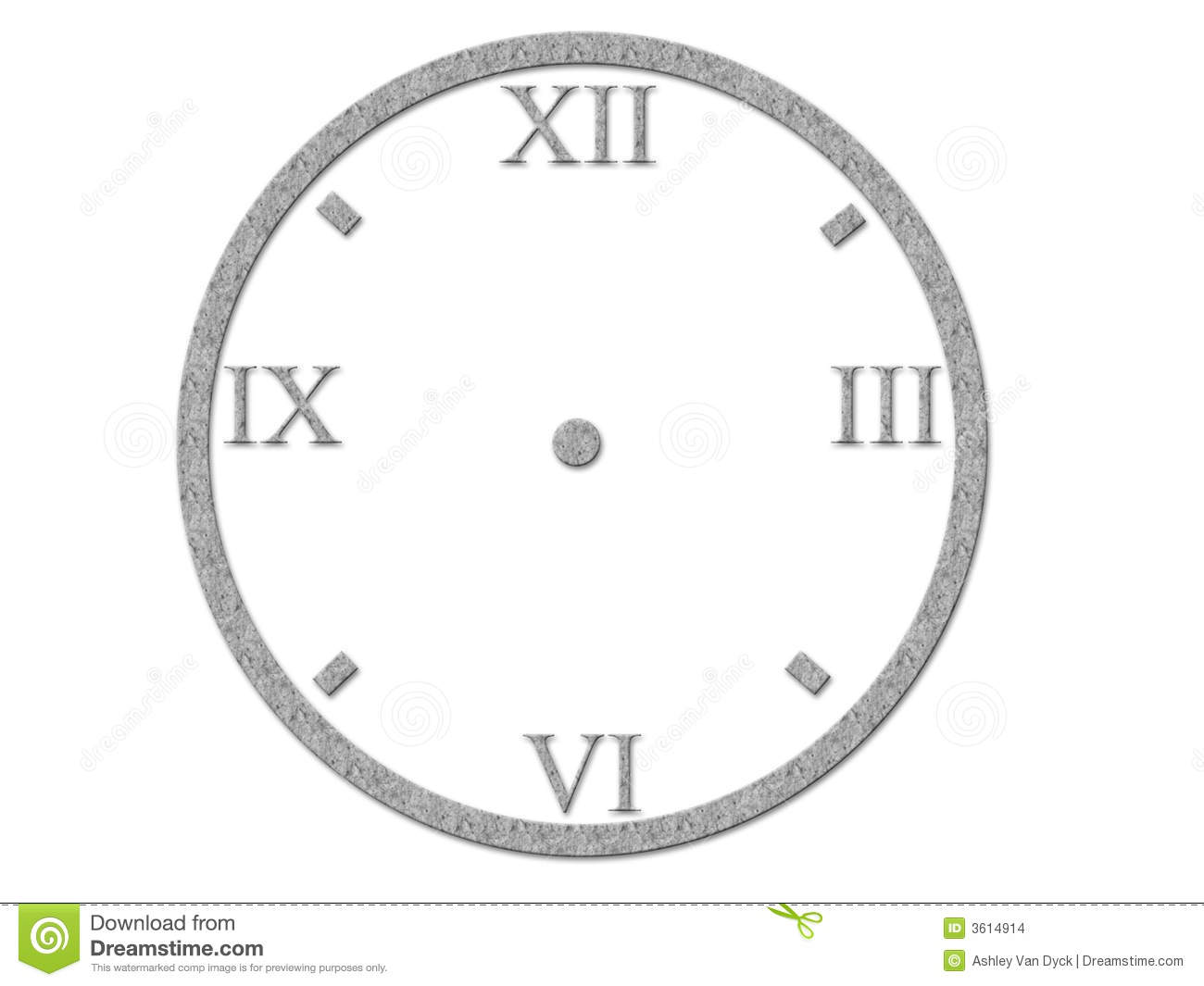 Roman Numerals On Clock Face Stock Images