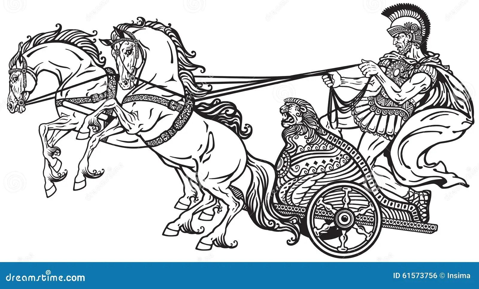 Roman War Chariot Stock Vector Image Of Historic Chariot