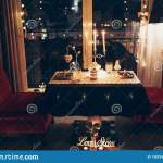 Romantic Dinner For Two Stock Image Image Of Decorative 138293591
