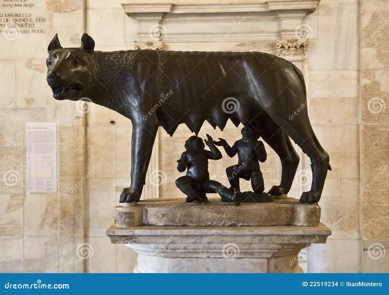 Romulus Und Remus Rom Symbol Stockfoto