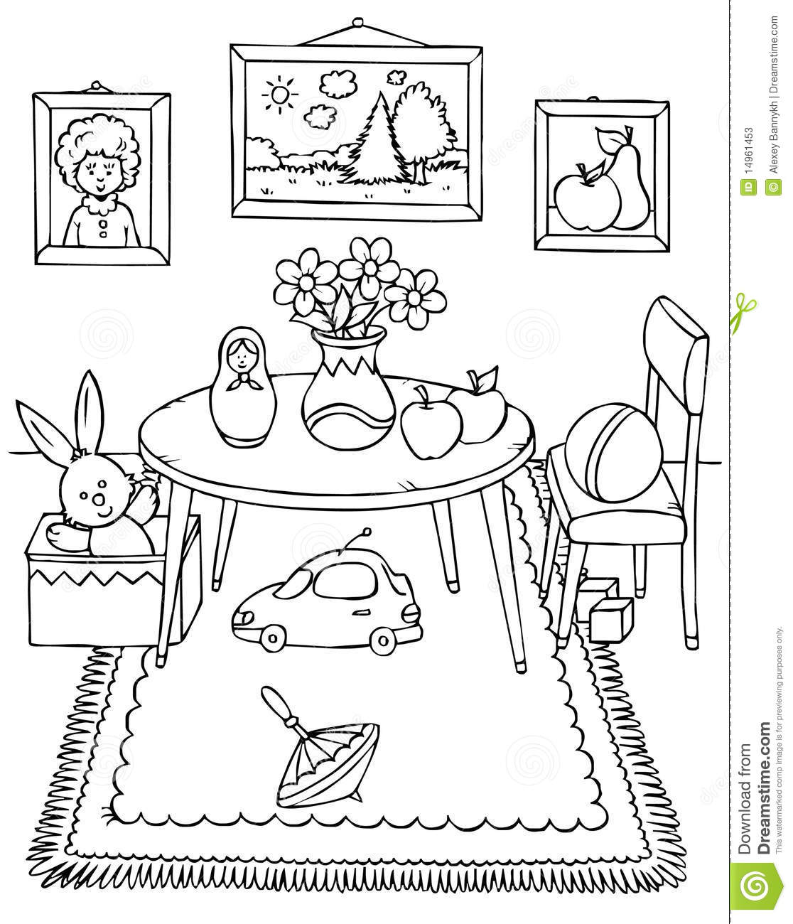 Room Stock Illustration Image Of Children Room Book