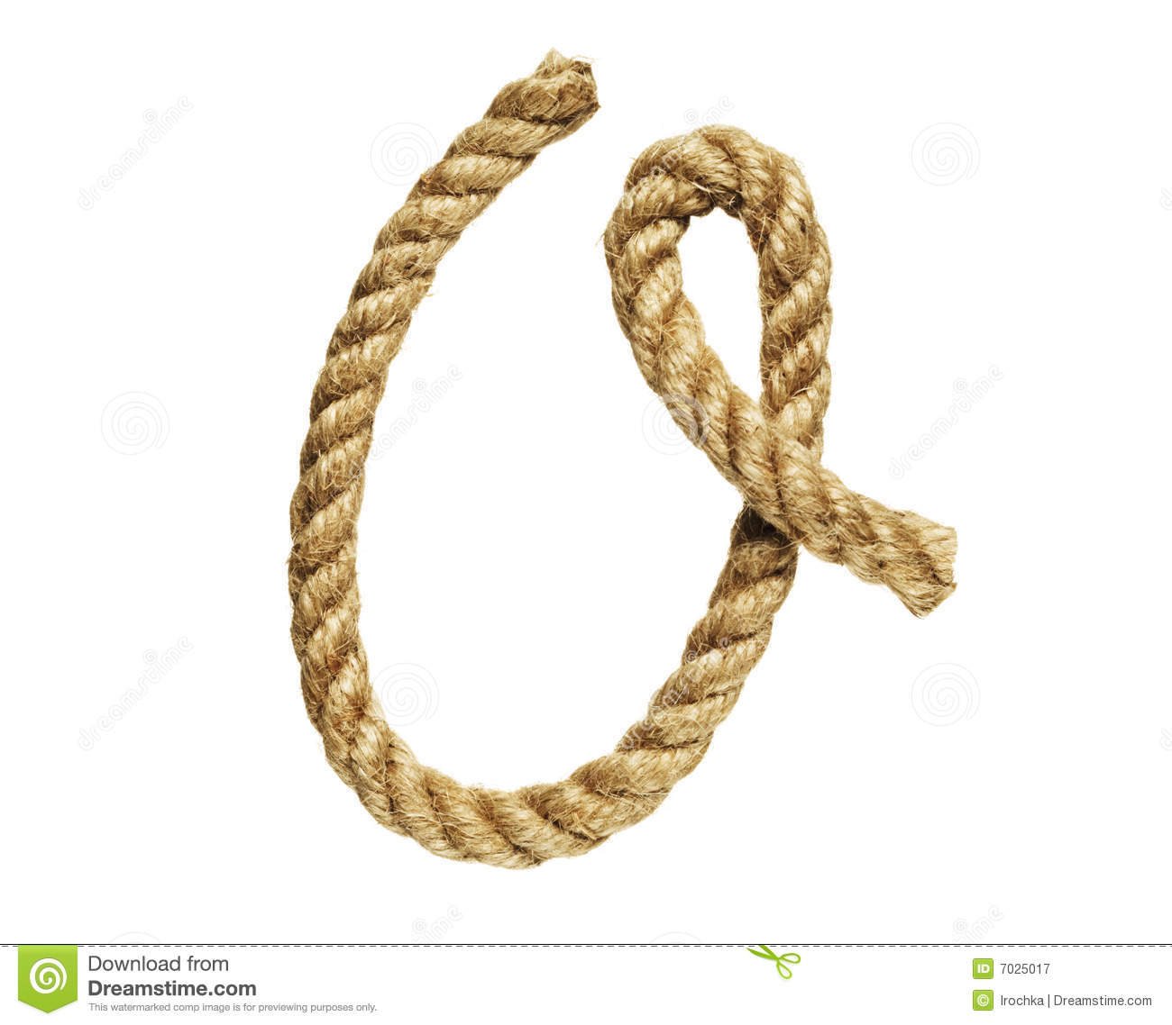 Rope Forming Letter O Stock Image Image Of Twisting