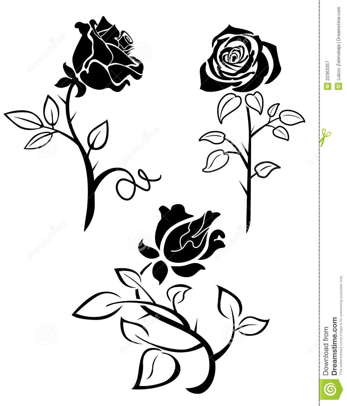 Rose Silhouette Royalty Free Stock Photography