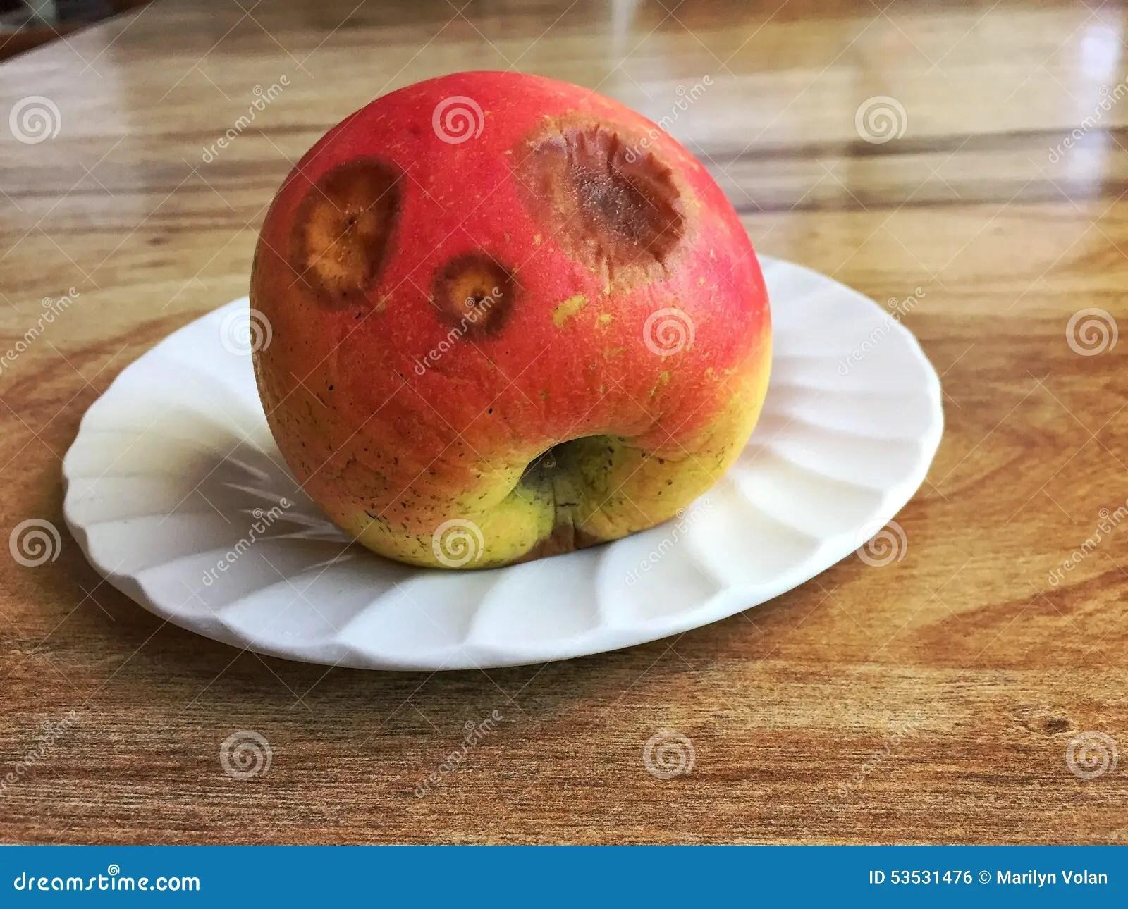 Rotten Plate Apple
