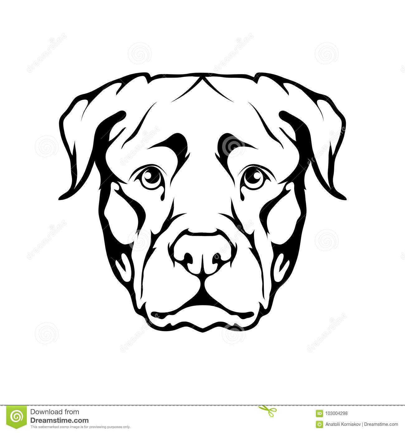 Rottweiler Icon Stock Vector Illustration Of Image