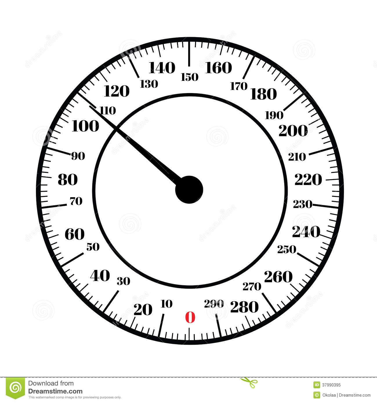 Roundog Dial Interface Of Scale Royalty Free Stock