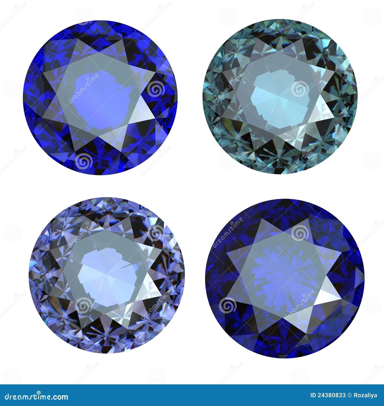 Round Blue Gemstone On White Background Stock Image