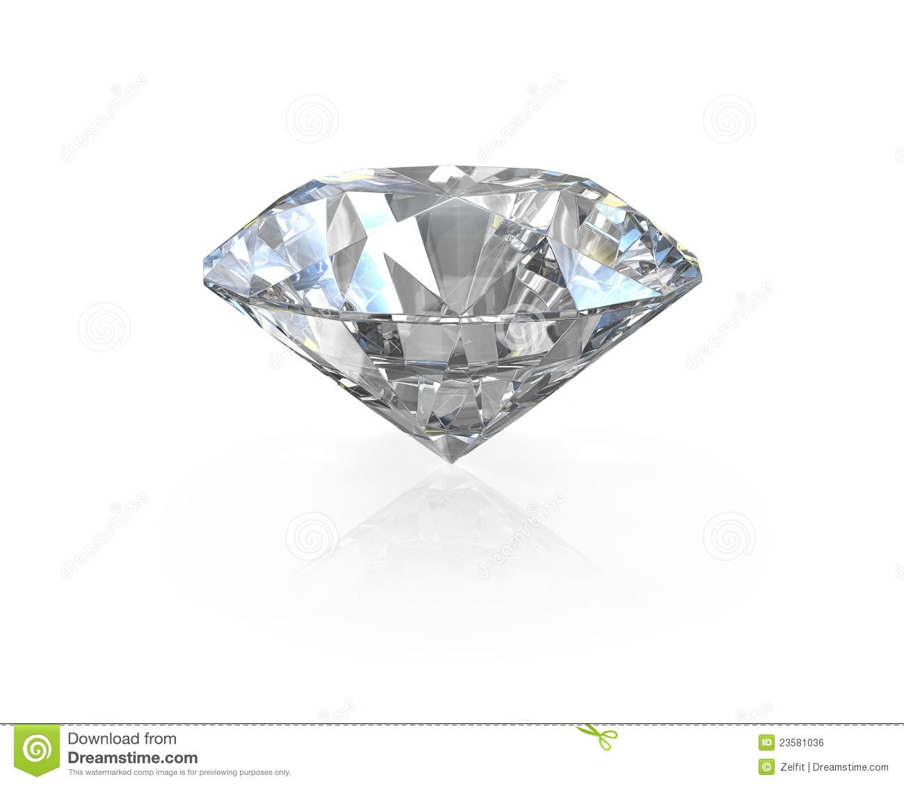 Round Old European Cut Diamond Royalty Free Stock Image