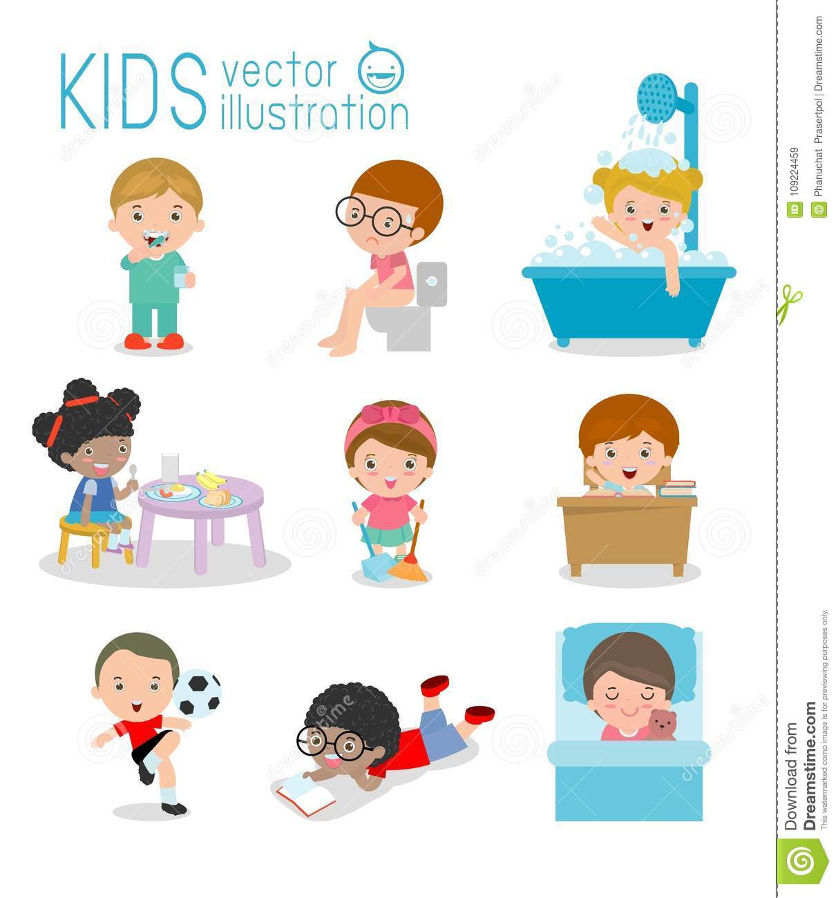 Daily Routine Daily Routine Of Happy Kids Health And