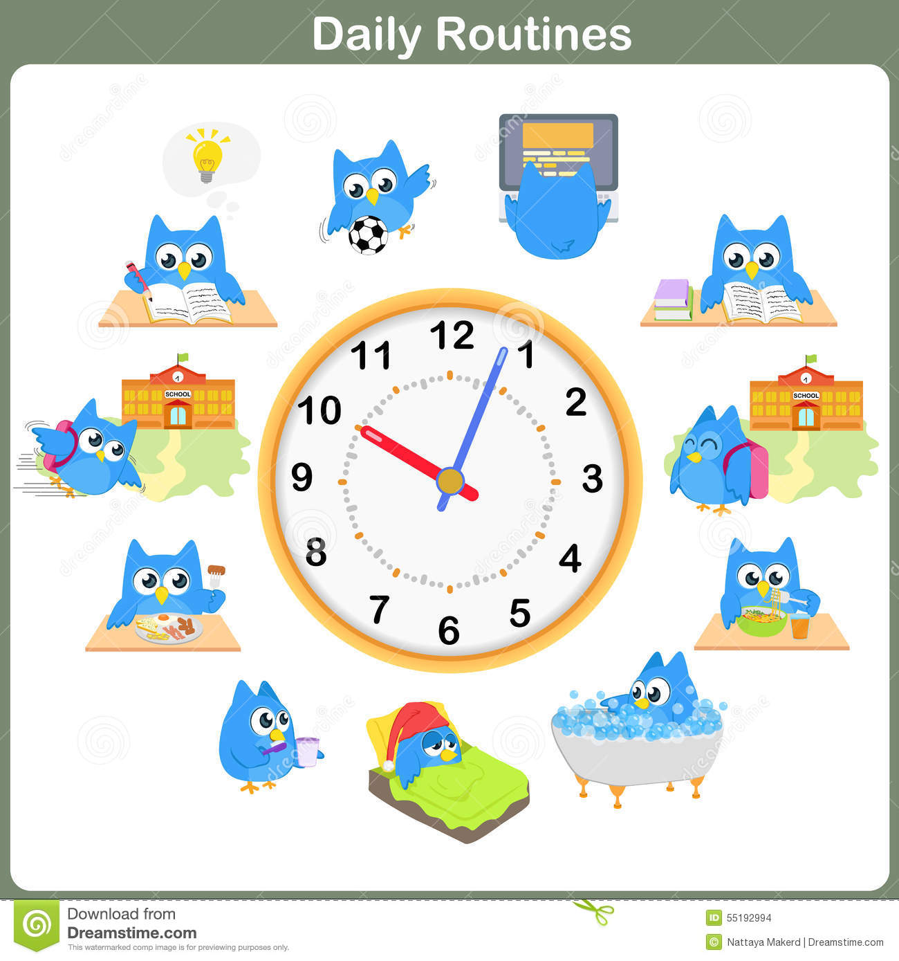 Daily Routines Sheet