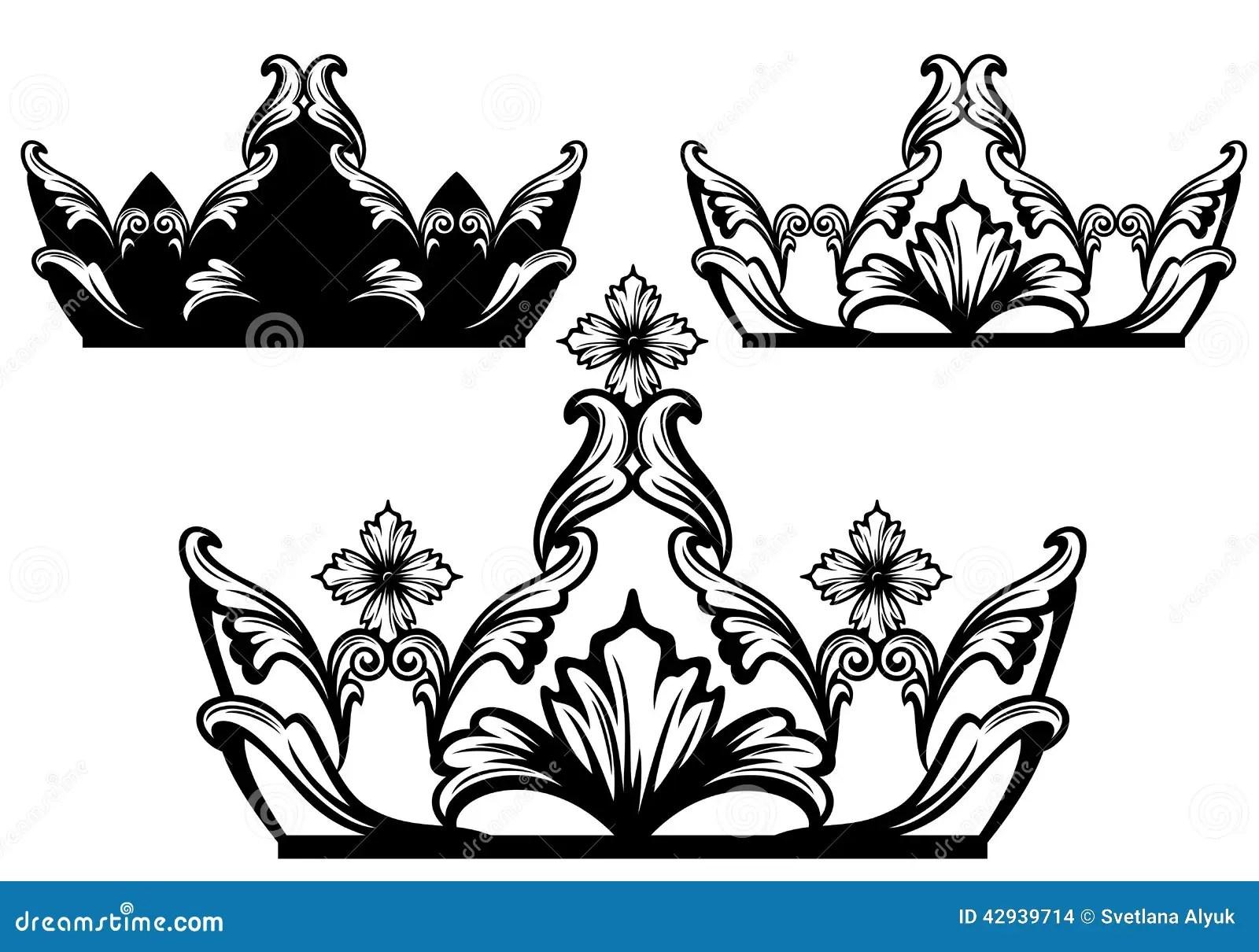Monarchy Crown Icon Outline Style Cartoon Vector