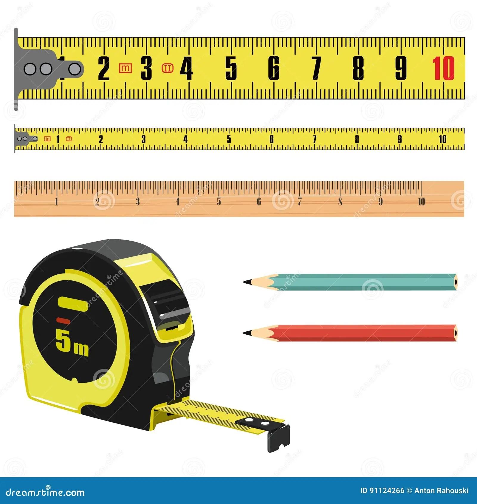Ruban Metrique De Longueur D Illustration En Centimetres