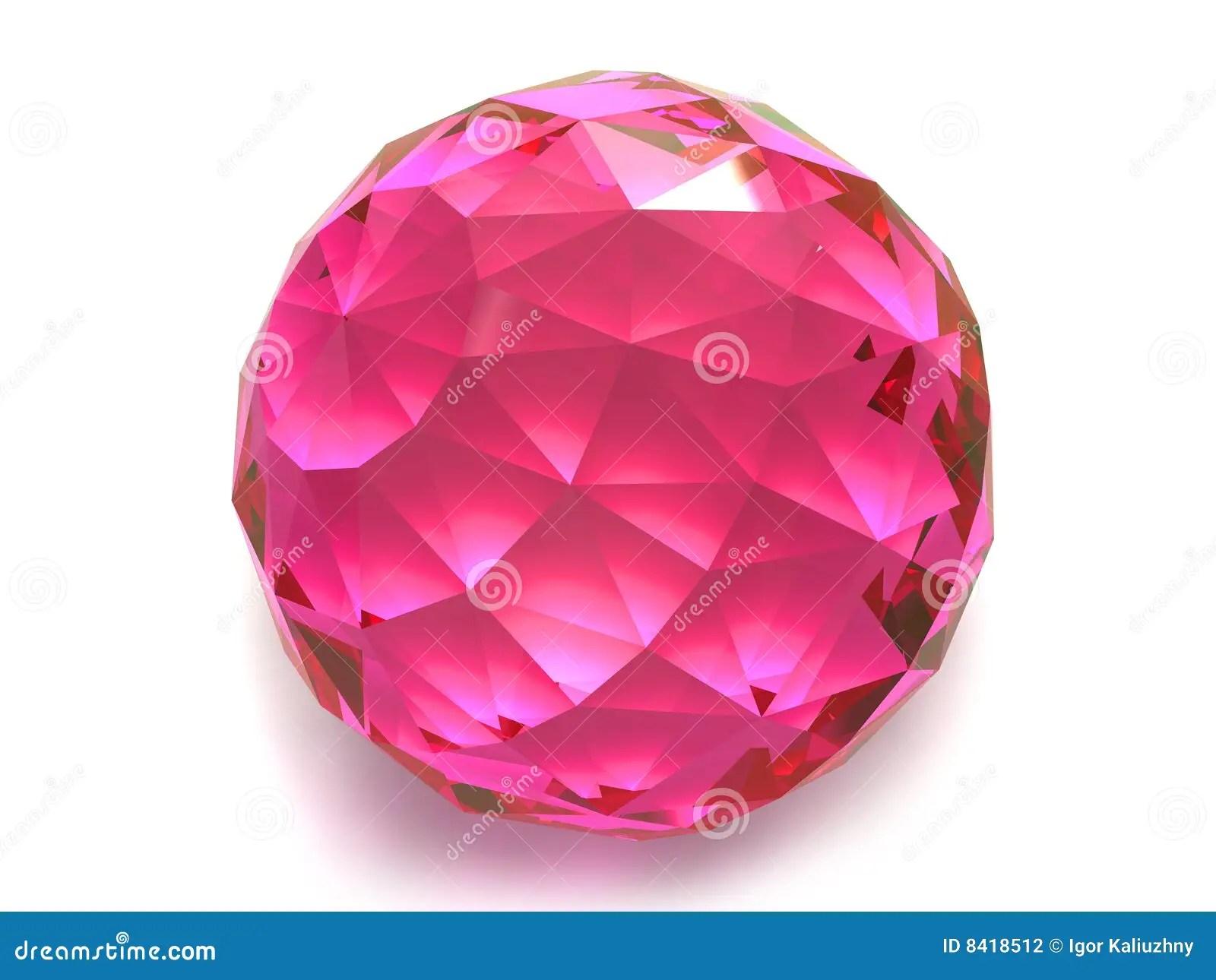 Ruby Or Rhodolite Gemstone Stock Photography Image 8418512