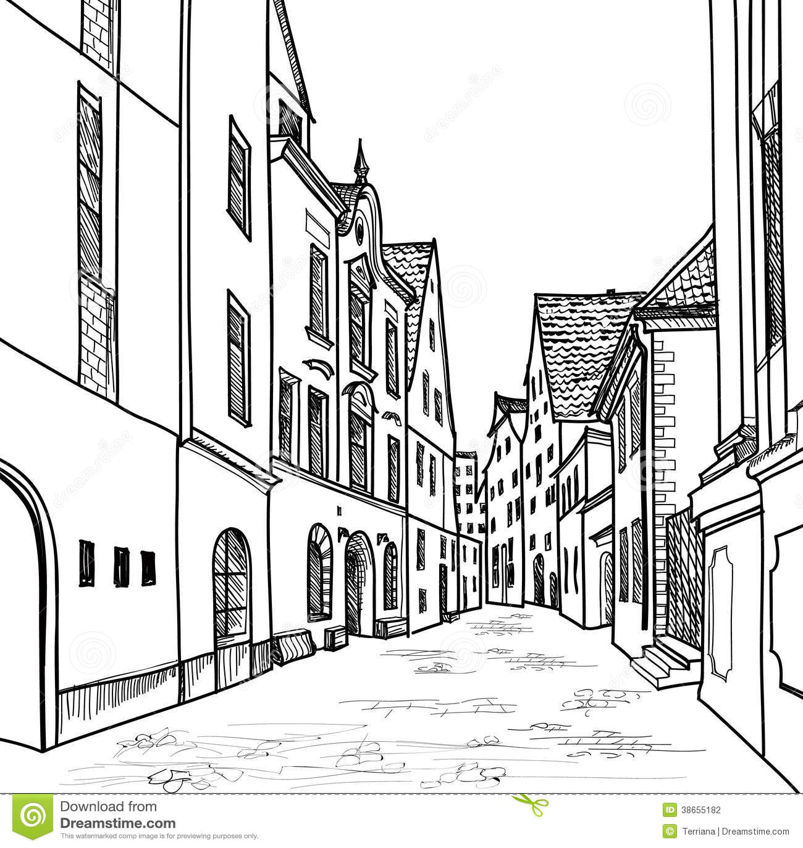 Rue Confortable Pietonniere Dans La Perspective