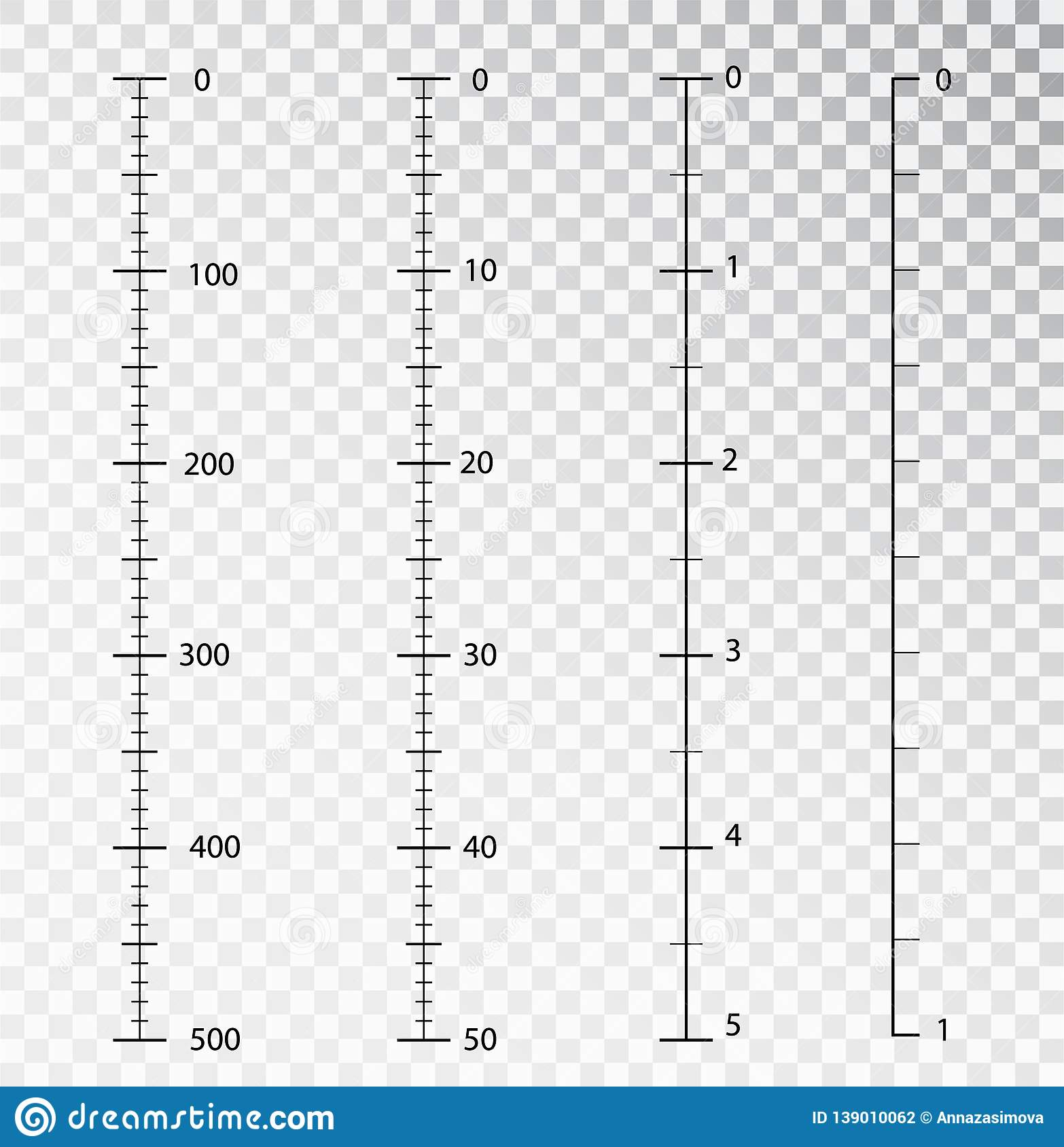 Rulers Vector Measuring Tool Centimeters And Inches
